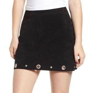 BLANK NYC suede black grommet skirt